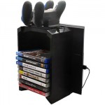 Dobe Multi function Stand Disc Storage, Dualshock Holder TP4-025S for PS 4, Pro, Slim