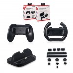 Dobe 4 in 1 Super Game Kit Charging Dock, Dust Proof, Hand Grip TNS-876 for Nintendo Switch