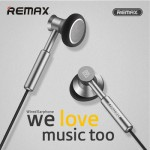 Remax Earphone Metal with Mic Volume Control RM-305M