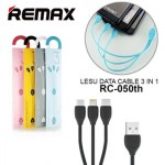Remax Lesu 3in1 Apple Lightning, Micro, Type C USB Cable 1M RC-050TH