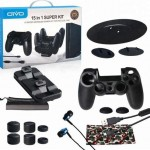 Oivo 15 in 1 Gaming Super Kit Cable Case Charger Earphone Skin Stand IV-P4T01 PS 4 Pro Slim